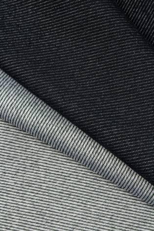 Dzianina dresówka cienka diagonalna - czarna - 155cm 300g/m2 thumbnail