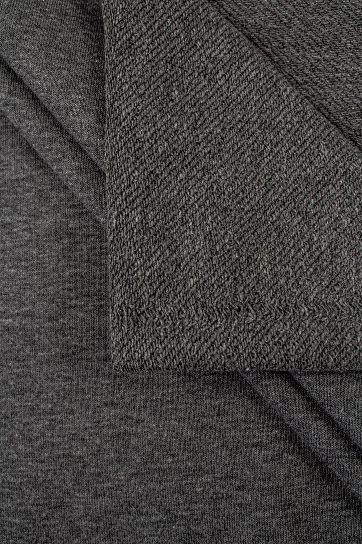 Dzianina dresówka pętelka ciemnoszary melanż - 180cm 340g/m2