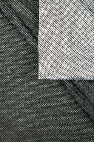 Dzianina dresówka cienka diagonalna - szary - 155cm 270g/m2 thumbnail