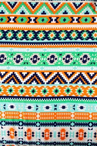 Dzianina jersey wiskozowy - wzór etno - 180cm 200g/m2 thumbnail