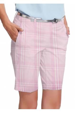 Tkanina odzieżowa różowa w kratkę 150 cm 200 g/m2 thumbnail
