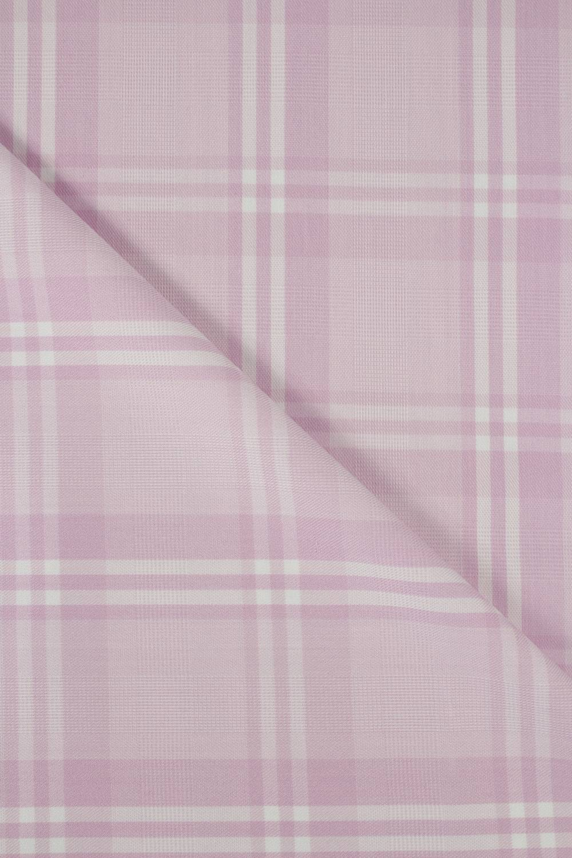 Tkanina odzieżowa różowa w kratkę 150 cm 200 g/m2