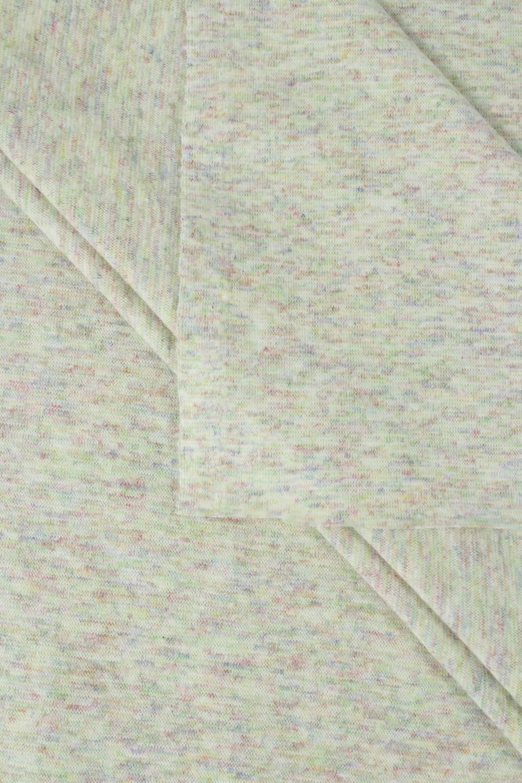 Dzianina punto beżowe w kolorowy melanż 160 cm 230 g/m2