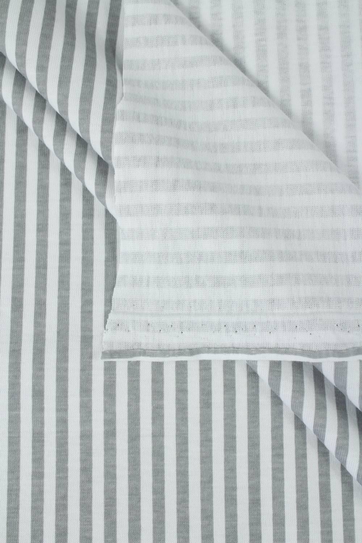 Dzianina jersey w szare paski 175 cm 180 g/m2