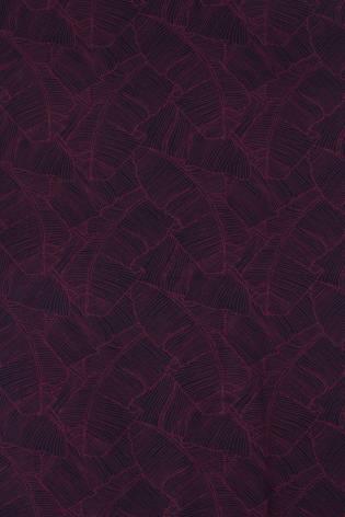 Jersey bawełna/elastan granatowy w różowe liście 170 cm 180 g/m2 thumbnail