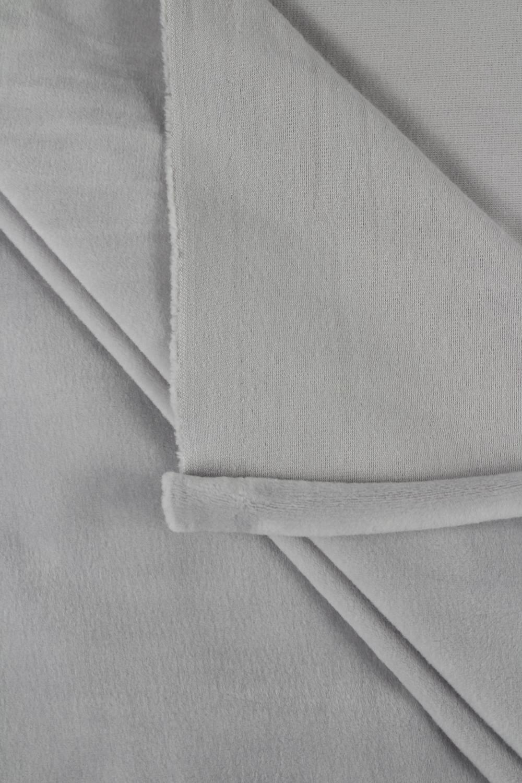 Welur aksamitny elastyczny gołębi szary 165 cm 290 g/m2