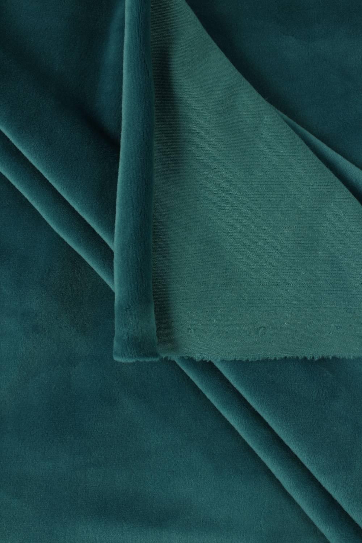 Welur aksamitny elastyczny malachitowy 165 cm 290 g/m2