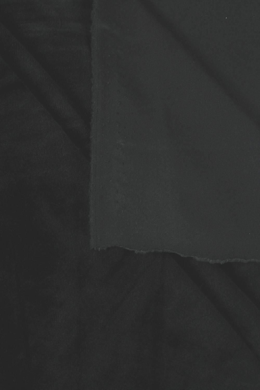 Welur aksamitny elastyczny czarny 165 cm 290 g/m2