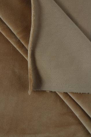 Welur aksamitny elastyczny karmelowy 165 cm 290 g/m2 thumbnail