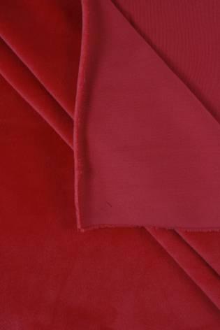 Welur aksamitny elastyczny malinowy 165 cm 290 g/m2 thumbnail
