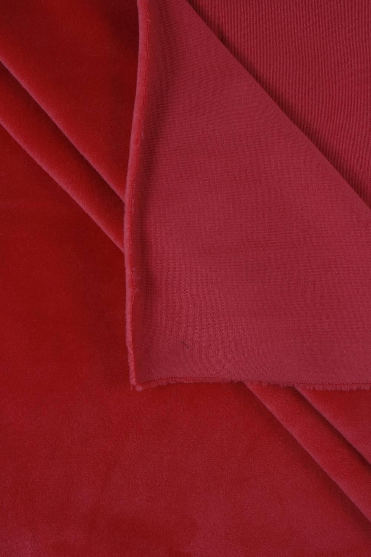 Welur aksamitny elastyczny malinowy 165 cm 290 g/m2