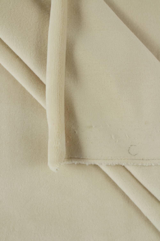 Welur aksamitny elastyczny beżowy 165 cm 290 g/m2