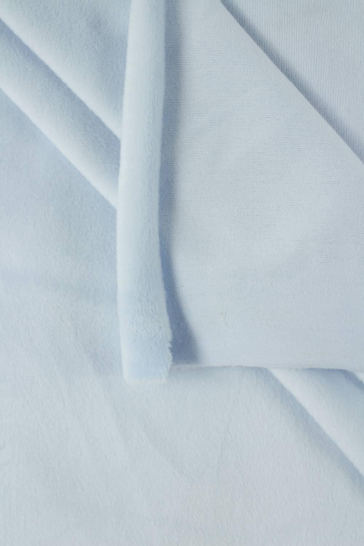 Welur aksamitny elastyczny błękitny 165 cm 290 g/m2
