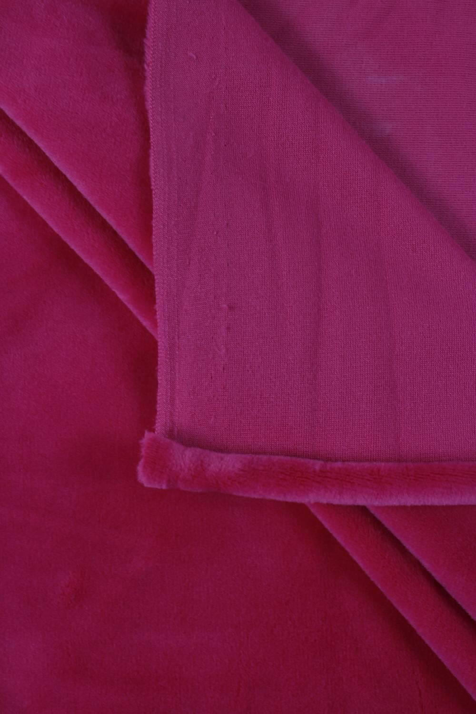 Welur aksamitny elastyczny różowy 165 cm 290 g/m2