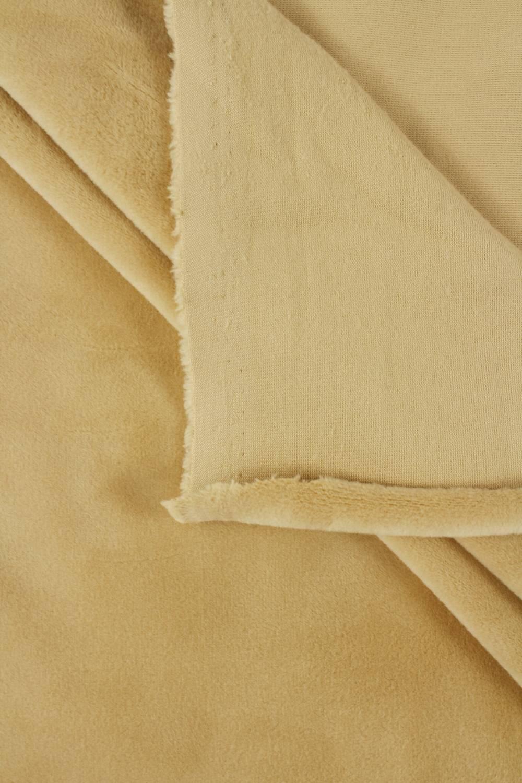 Welur aksamitny elastyczny ecru 165 cm 290 g/m2
