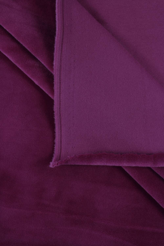 Welur aksamitny elastyczny fioletowy 165 cm 290 g/m2