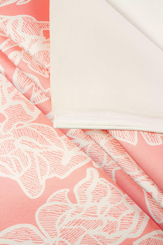 Knit - Scuba - Salmon Pink - Flowers Pattern - 160 cm - 440 g/m2