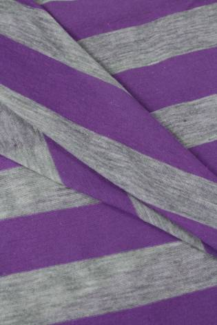 Dzianina jersey bawełniany w paski fioletowy 150 cm 120 g/m2 thumbnail
