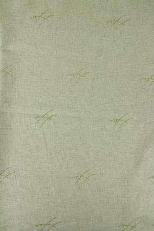 Tkanina lniana oliwka w kwiaty 140 cm 190 g/m2 thumbnail