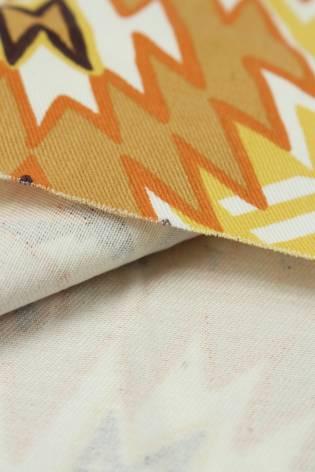 Tkanina bawełniana wzór w pomarańczowe kwiaty 150 cm 290 g/m2 thumbnail