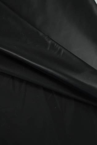 Tkanina podszewka czarna błyszcząca wodoodporna 150 cm 70 g/m2 thumbnail