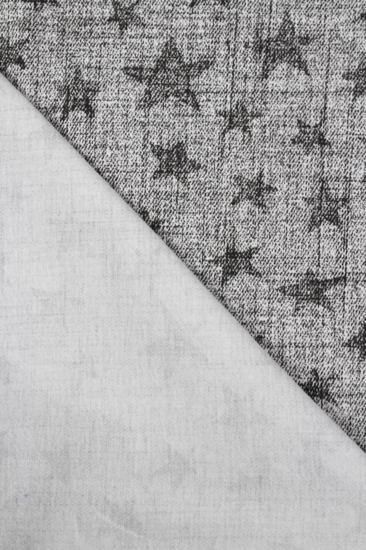 Jersey bawełniany szary w gwiazdki 170 cm 150 g/m2