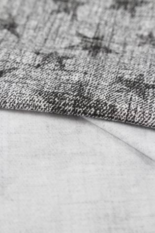 Jersey bawełniany szary w gwiazdki 170 cm 150 g/m2 thumbnail