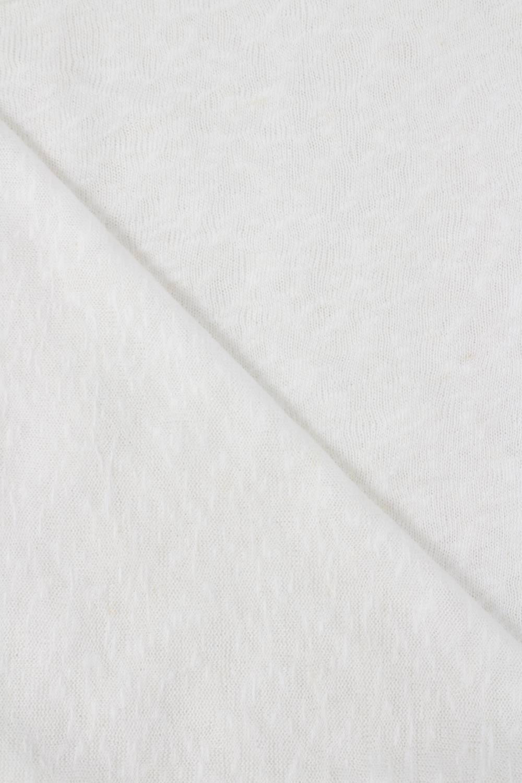 Dzianina sweterkowa śmietankowa transparentna 150 cm 140 g/m2