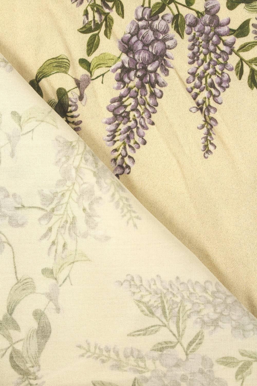Tkanina wiskozowa kwiaty lawendy 140 cm 140 g/m2