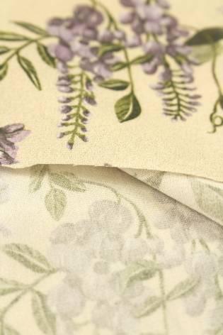 Tkanina wiskozowa kwiaty lawendy 140 cm 140 g/m2 thumbnail