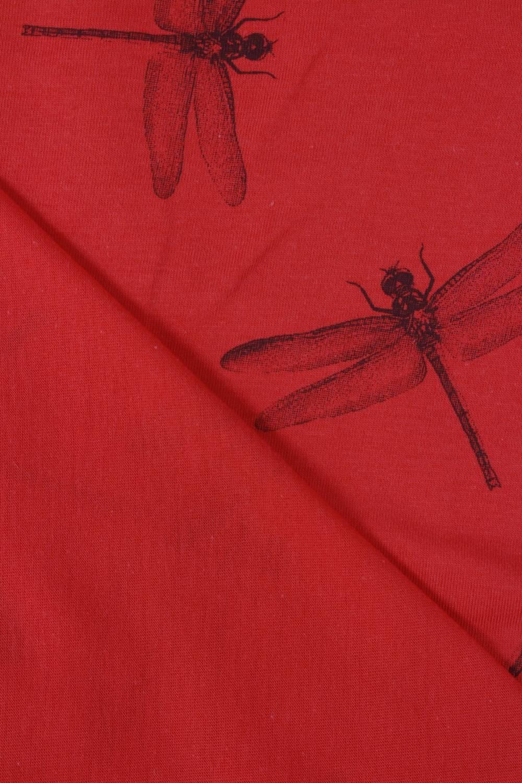 Jersey bawełniany czerwony ważki 160 cm 160 g/m2