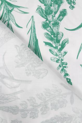 Tkanina wiskozowa botaniczne zielone kwiaty 150 cm 110 g/m2 thumbnail