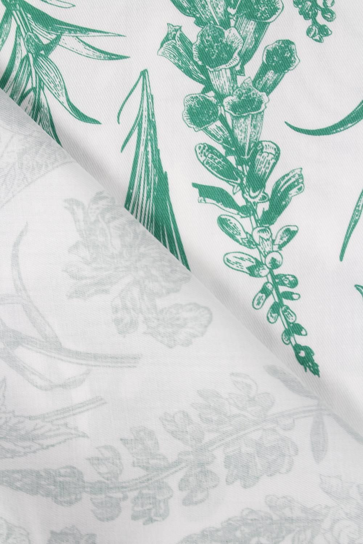 Tkanina wiskozowa botaniczne zielone kwiaty 150 cm 110 g/m2