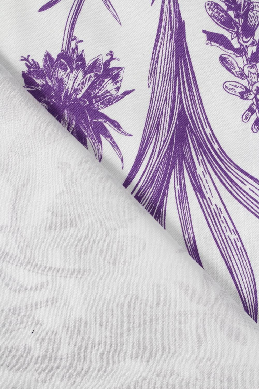 Tkanina wiskozowa botaniczne fioletowe kwiaty 150 cm 110 g/m2