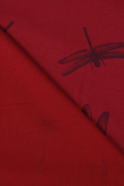Dresówka pętelka ważki czerwona 185 cm 190 g/m2