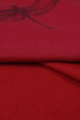 Dresówka pętelka ważki czerwona 185 cm 190 g/m2 thumbnail