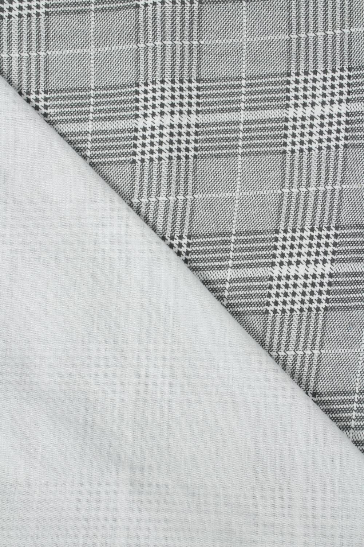 Jersey bawełniany szary w kratkę pepitkę 170 cm 170 g/m2