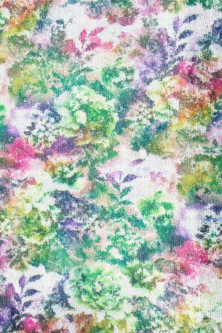 Fabric - Sequins - Flowery Pattern - Green - 140 cm - 180 g/m2 thumbnail