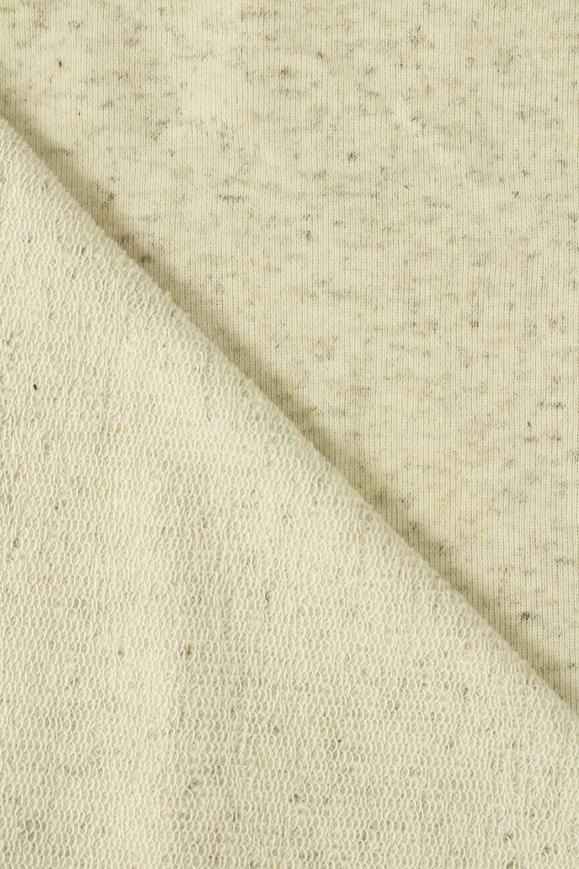 Sweatshirt French Terry Hanf beige melange 185 cm 250 g / m2