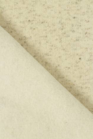 Dresówka drapana lniana beżowy melanż GOTS 185 cm 280 g/m2 thumbnail
