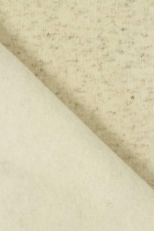Sweatshirt gebürstetes Leinen beige melange GOTS 185 cm 280 g / m2 thumbnail
