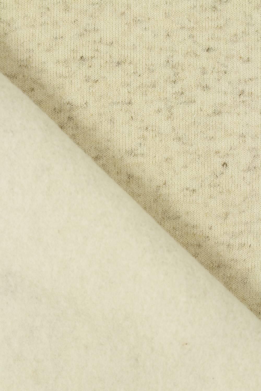 Dresówka drapana lniana beżowy melanż GOTS 185 cm 280 g/m2