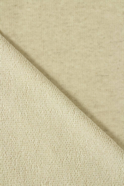 Sweatshirt French Terry Leinen beige melange GOTS 185 cm 280 g / m2