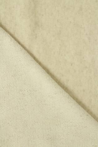 Dresówka pętelka lniana beżowy melanż GOTS 185 cm 240 g/m2 thumbnail