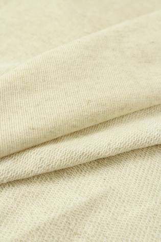 Sweatshirt French Terry Leinen beige melange GOTS 185 cm 240 g / m2 thumbnail