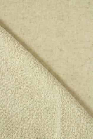 Sweatshirt French Terry Leinen beige melange GOTS 180 cm 300 g/m2 thumbnail