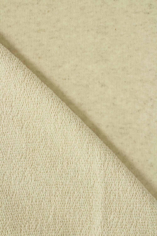 Sweatshirt French Terry Leinen beige melange GOTS 180 cm 300 g/m2