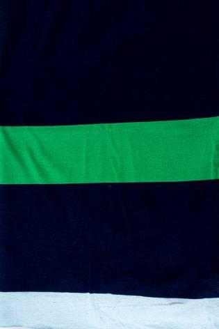 Knit - Jersey - Navy Blue & Green Stripes - 150 cm - 170 g/m2 thumbnail