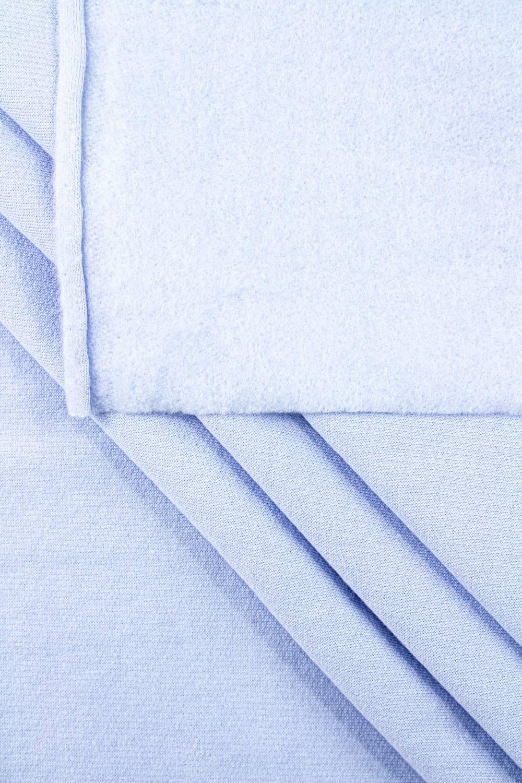 Dzianina dresowa drapana - błękitna - 155cm 230g/m2