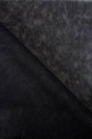 Tkanina tiulowa sztywna - czarny - 160cm 30g/m2 thumbnail